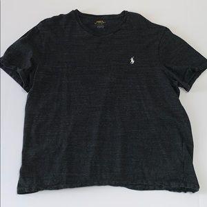Polo Men's Dark Gray Short Sleeve Tee Shirt Medium